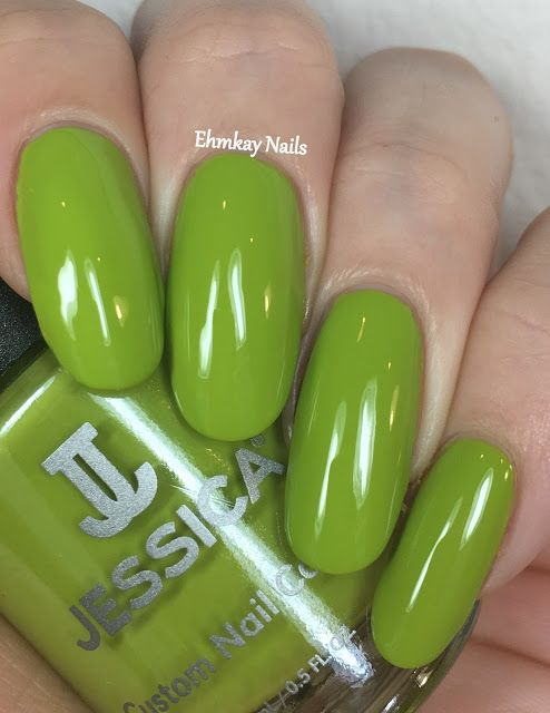 ehmkay nails: Jessica Cosmetics Prime Collection, Swatches and Review. Jessica Cosmetics Green