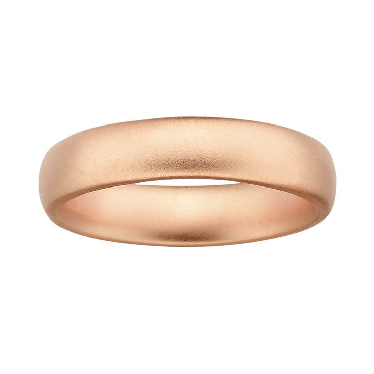 Stacks and Stones 18k Rose Gold Over Silver Satin Finish Stack Ring, Women's, Size: 10, Pink