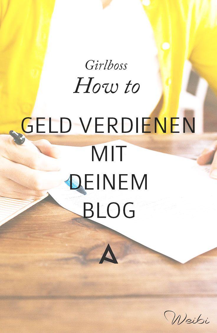 Geld verdienen mit dem Blog, aber wie? Einige Tipps wie du Geld mit deinem Blog machen kannst, findest du jetzt hier! #girlboss #bloggenlernen #augustacademy http://www.weibi.at/geld-verdienen-mit-dem-blog-aber-wie/?utm_campaign=coschedule&utm_source=pinterest&utm_medium=Viktoria%20Egger&utm_content=Geld%20verdienen%20mit%20dem%20Blog%2C%20aber%20wie%3F