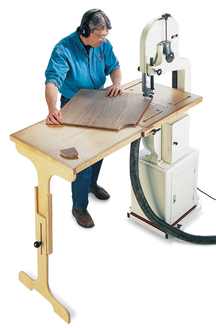 Bandsaw Table System This oversized table provides extra support for sawing or resawing plus the quick-set fence ends blade drift hassles. If you've ever been frustrated by your small bandsaw table, this project is for you. No more struggling to balance large pieces while making intricate cuts or resawing. Designed by George Vondriska, this two-part system features a table that triples the surface area of your old one. It comes …