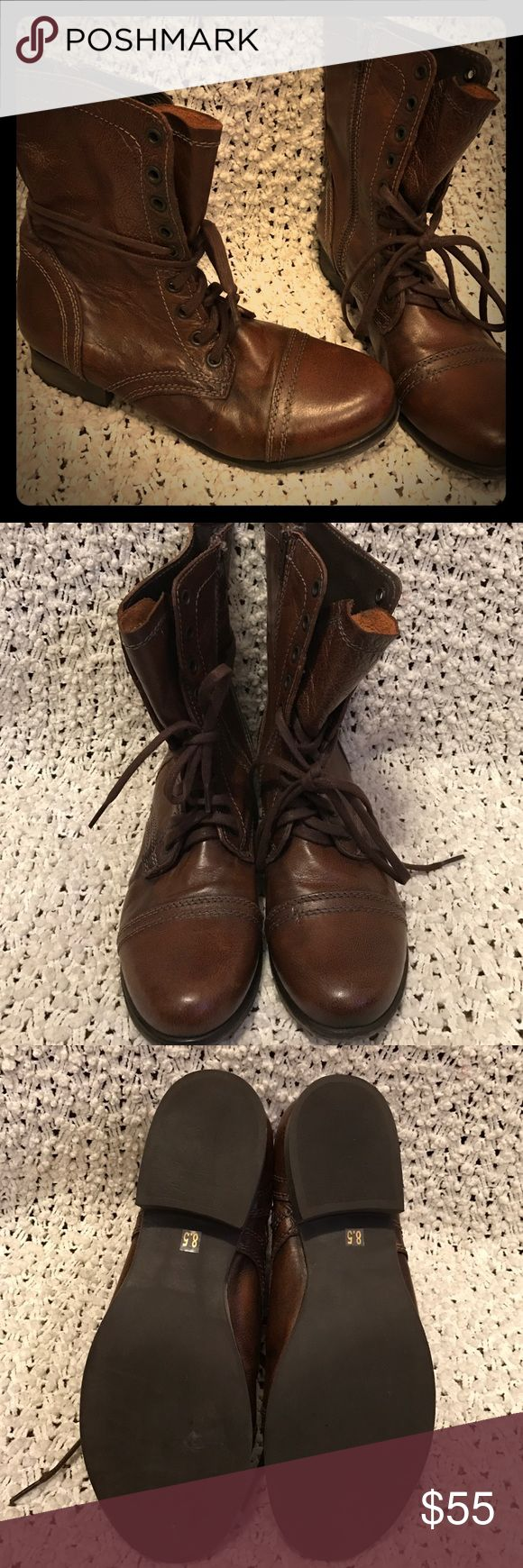 Steve Madden Combats! New combat boots!! Look awesome on just a little big on me. Size 8.5 Steve Madden Shoes Combat & Moto Boots
