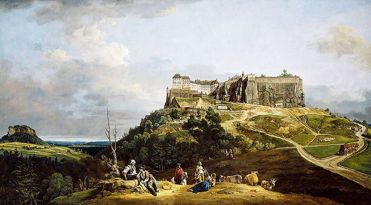 """Bellotto Bernardo - Fortress Of Konigstein 1756 58 (from <a href=""""http://www.oldpainters.org/picture.php?/45291/category/15206""""></a>)"""