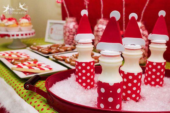 cute Santa milk
