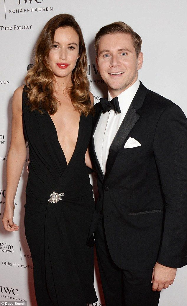 The obvious choice:Allen Leech and his partner Charlie Webster in plain black...