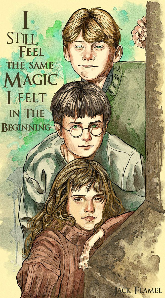 Young Harry, Hermione and Ron by aquiles-soir on DeviantArt