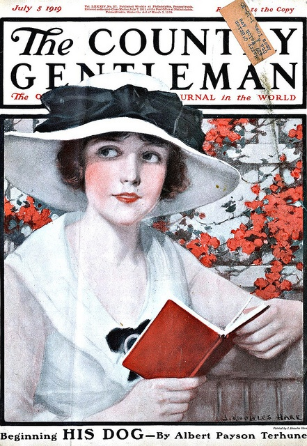 Vintage Magazine Cover - July 5, 1919/ Would love this haning in the room above the bookshelves.