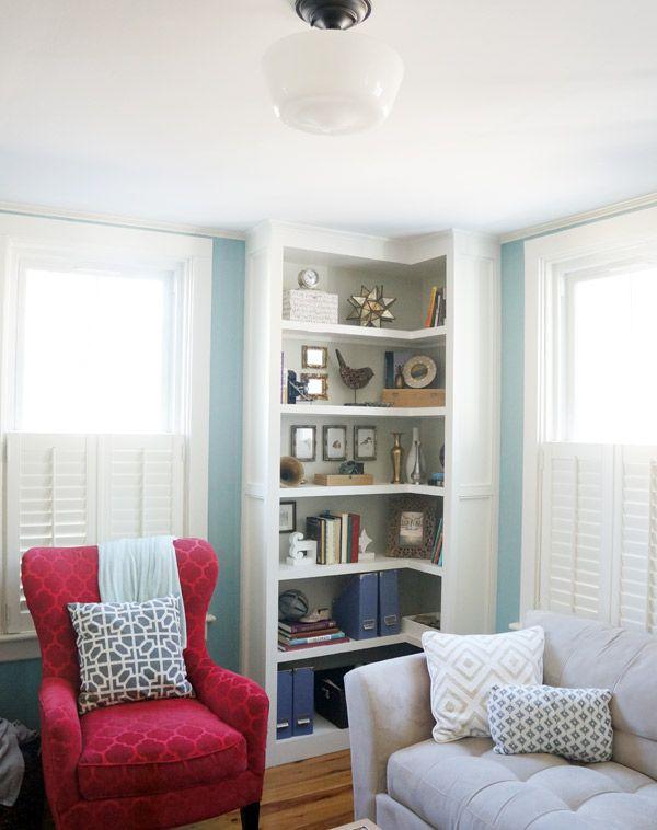 Bookcase Style Take 1 Corner Shelves Living Room