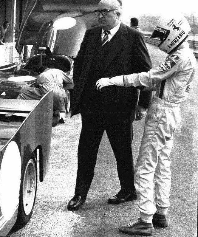 Autodelta 's Carlo Chiti & Merzario