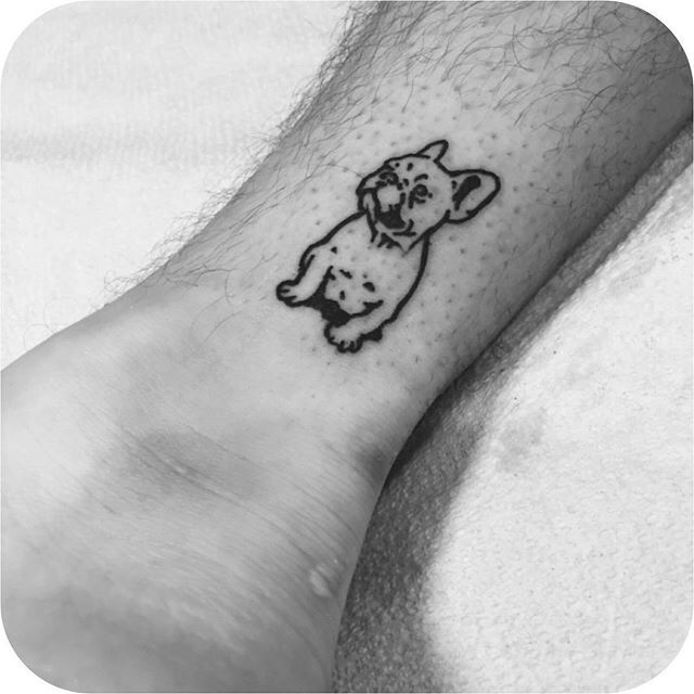 Lil' Frenchie made by @tattoosbyrodrigocanteras #TATTOODO