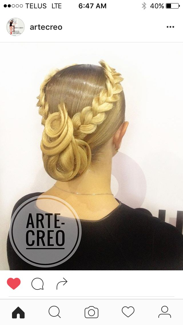 Braided hair #ballroom #Latin #dancesport