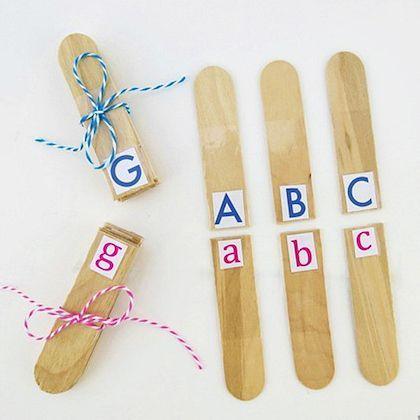 Letter Recognition Popsicle letter match