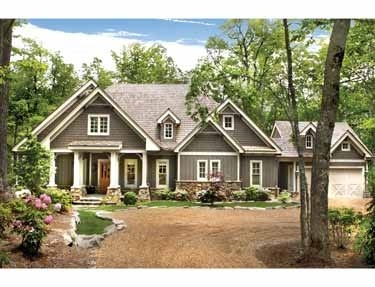 house color, stone, styleFloors Plans, Craftsman House, Houseplans, Cottages House, Dreams House, Exterior Colors, Lodgemont Cottages, House Colors, House Plans