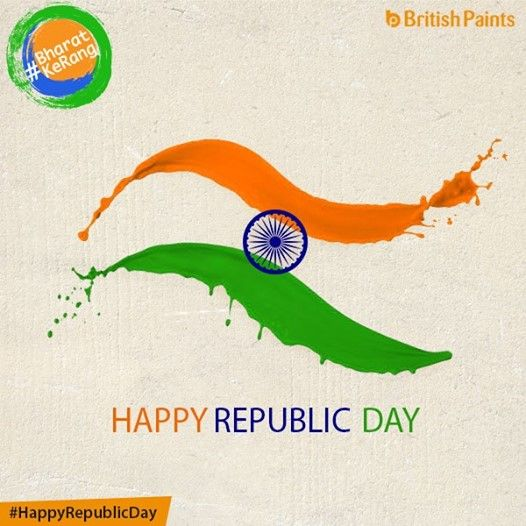 Remembering the golden heritage of India, Happy Republic Day! #BharatKeRang, British Paints ke sang.
