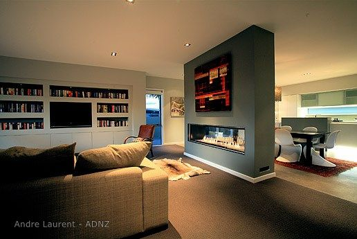 Desinged by ADNZ Member Andre Laurent #ADNZ #fireplace #cosyliving