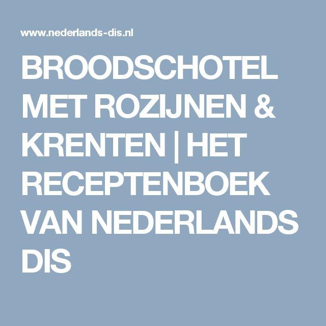 BROODSCHOTEL MET ROZIJNEN & KRENTEN | HET RECEPTENBOEK VAN NEDERLANDS DIS