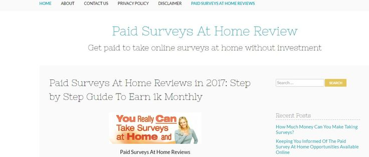 www.paidsurveysat… We list and review all the paid surveys at home you can sig…