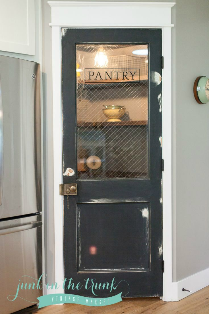 pantry black with logo lose the wire glassthat stuff is dangerous - Kitchen Pantry Door Ideas