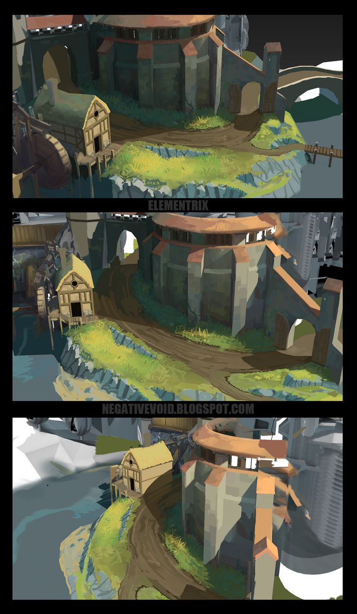 New Approach to Handpainted Environments - Polycount Forum