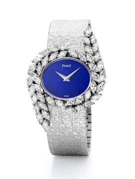 Reloj de Alta Joyería en oro blanco, diamantes y lapislázuli                                                                                                                                                                                 Más