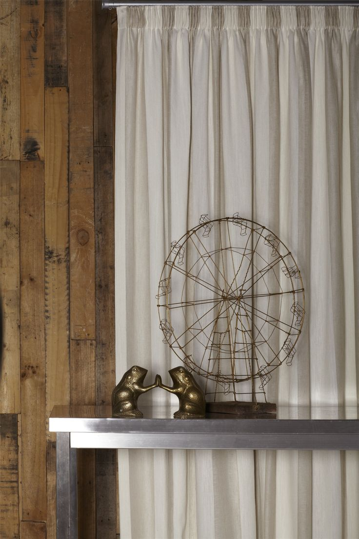 Flaxton Sand Sheer Striped Drapery Fabric By Charles