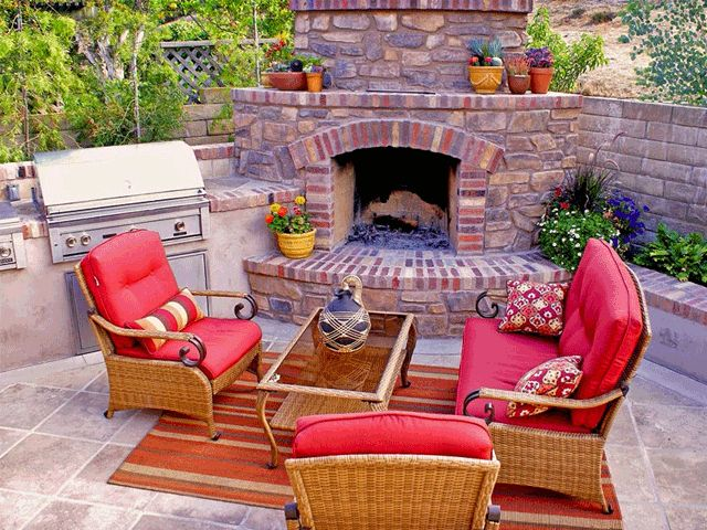 21 best outdoor fire place BBQ combo images on Pinterest