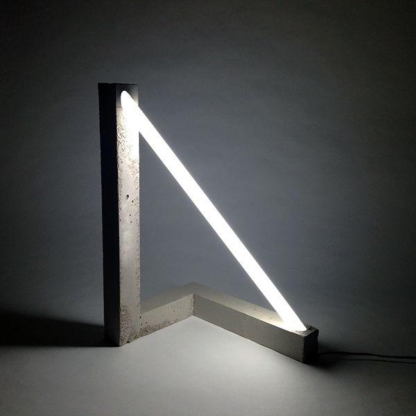 Hypotenuse Light on Behance #ConcreteLamp