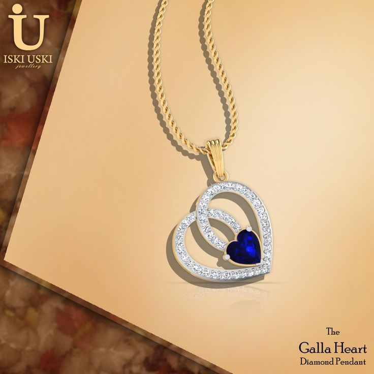 Something old, something new, something borrowed, something blue... Our Galla Heart Pendant with diamonds.#Pendants #DiamondPendants #IskiUski #GoldPendants