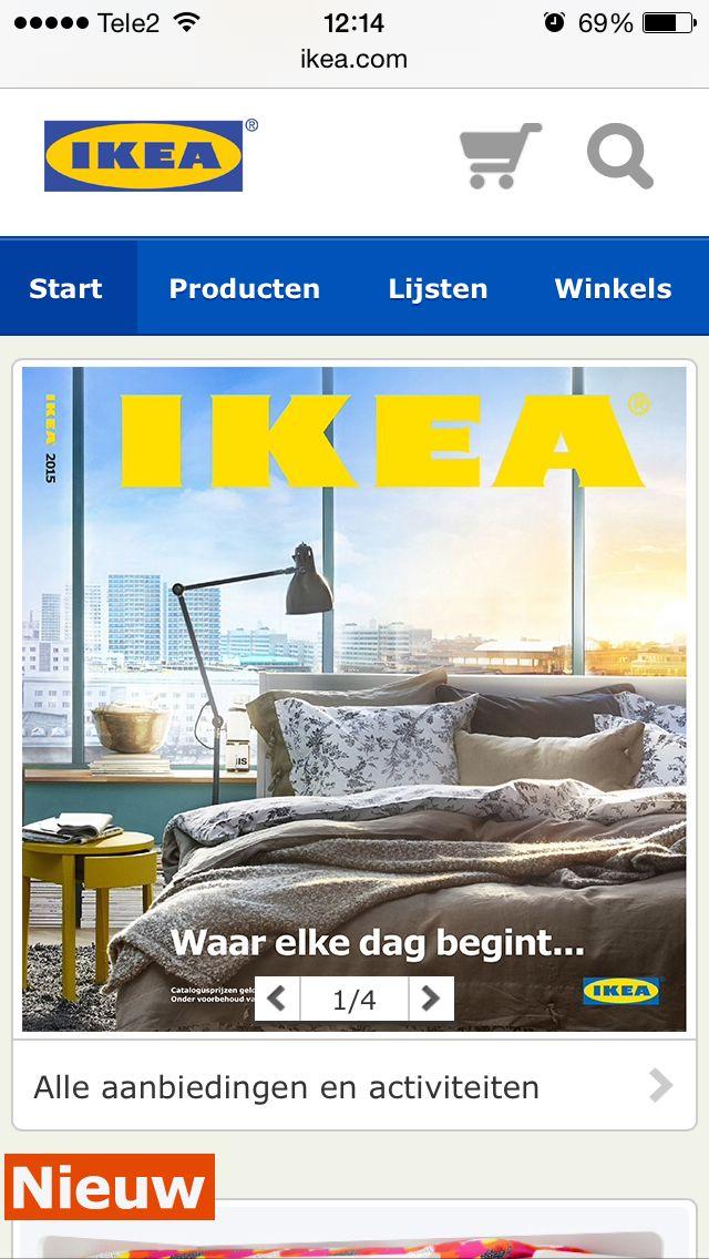 Ikea vind ik op de iPhone mooier en overzichtelijker als op de de website daar zijn de zoek gegevens te klein en leid het mij er niet toe om iets te bestellen !