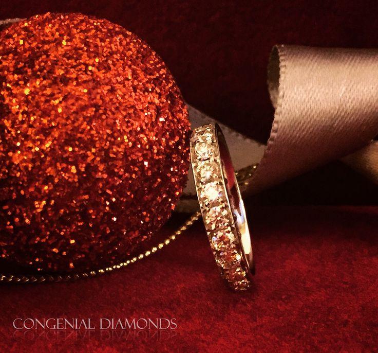 What's more beautiful than a row of pavé set diamonds?