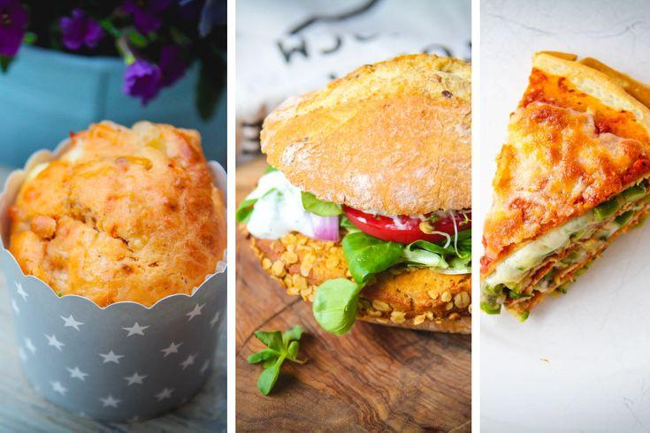 Trzy pyszne przepisy na długi weekend [torcik warzywny, burgery z ciecierzycą, wytrawne muffiny]