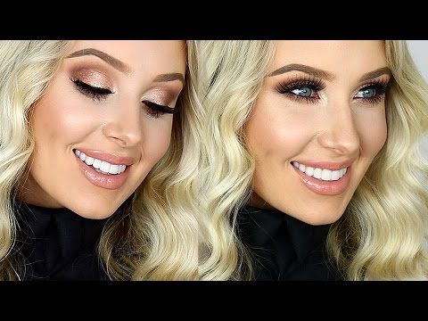 FULL GLAM: Cream Contour/Highlight, Sultry Eyes, Glossy Lips! | Lauren Curtis - YouTube