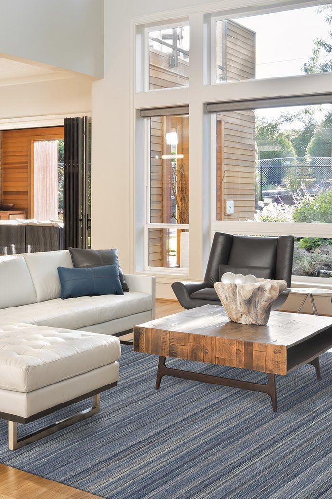 Multi Stripe Blue Rug Rugs In Living Room Washable Rugs Home Rugs