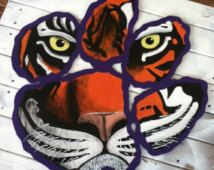 Clemson Tiger Paw with face, College National Championship Contenders