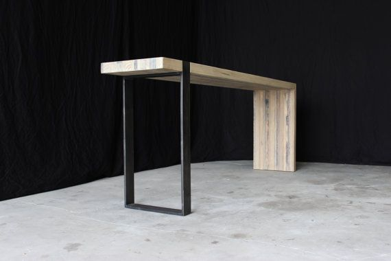 7'  industrial modern entry table by seventeen20 on Etsy, $1295.00
