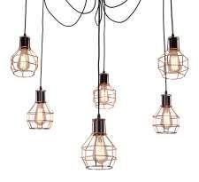 LAMPA wisząca VERIN 36-43092 Candellux industrialna OPRAWA druciana zwis pająk retro miedziany