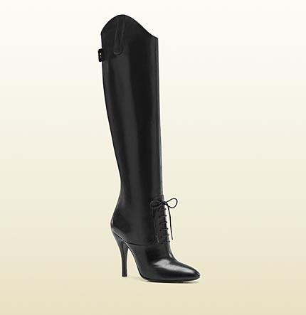 Gucci 2012 - bottes d'équitation Elizabeth en cuir à talons hauts