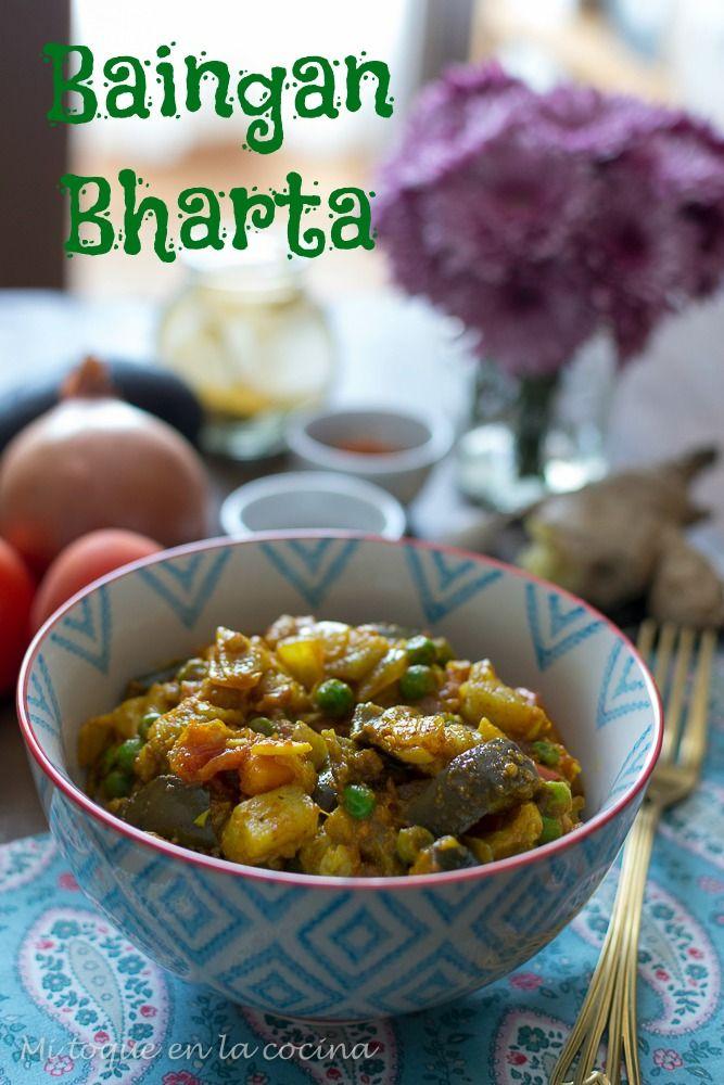 Baingan bharta (curry indio de berenjena)