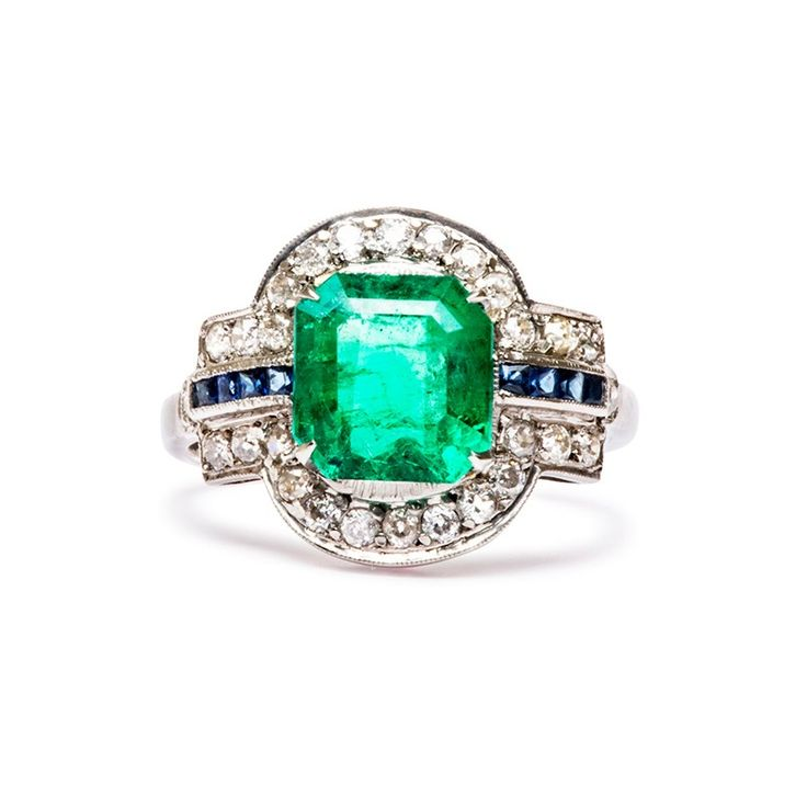 best 25 vintage emerald engagement rings ideas only on