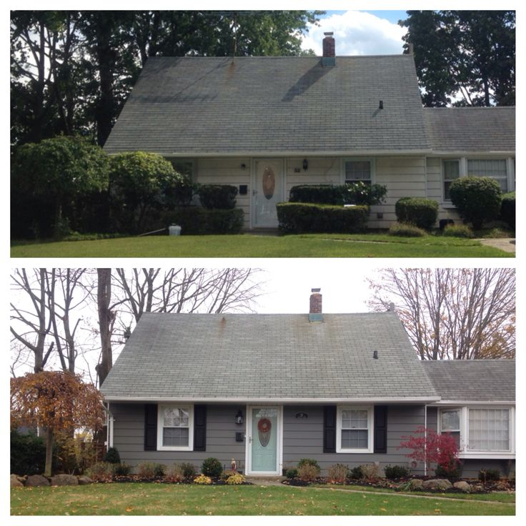Before And After Siding Benjamin Moore Amherst Gray Door Benjamin Moore Wythe Blue House
