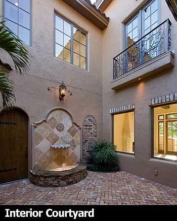 Plan 83376cl Best In Show Courtyard Stunner Wall