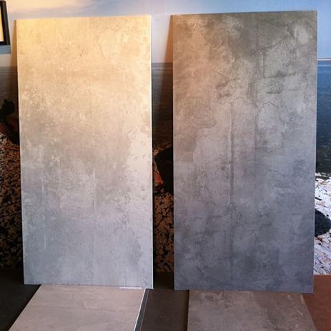 75 x 150 #tungt #stort #klinker #betong #grå #kakel #tiles #refin #inspiration #bad #badrum #porcelain #floortiles #granitkeramik #nyhet #home #interior #big #ceramic
