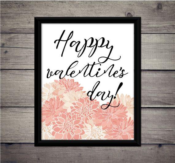Happy Valentine's Day  Romantic Print  by ThoughtWorksByAbby