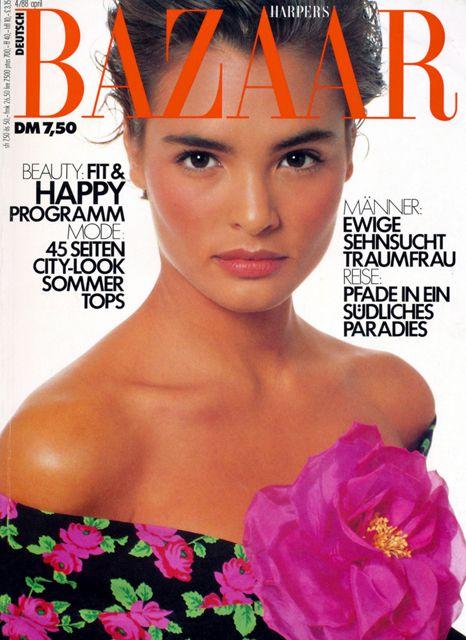 Talisa Soto for Harper's Bazaar Germany April 1988