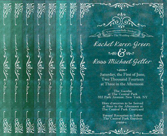 Jade wedding invitations - See more jade wedding ideas at http://themerrybride.org/2014/03/24/jade-wedding/