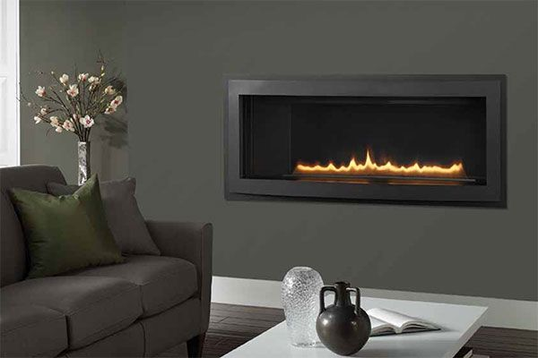 Rave Modern Gas Fireplace - maybe in my new dining room!