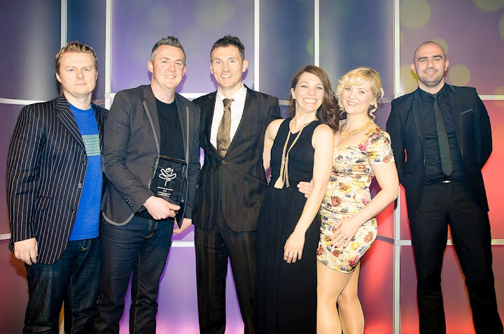 The whole team picking up the Roses Awards :)