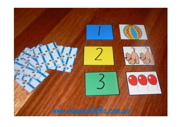 Memory Match Game.  This popular game gives lots of alternatives to traditional memory match.  The students can match numerals to numerals, numerals to object groups and numerals to dot formations. www.edspecially4u.com.au