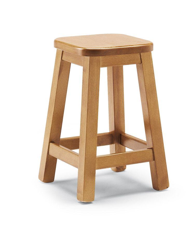 Sbagello bar altezza cm. 45, costruito in legno massiccio. Ideale per allestimento locali . #Produzione e vendita arredamenti rustici Demar Mobili pino. #sgabelli #sedie #mobili www.demarmobili.it