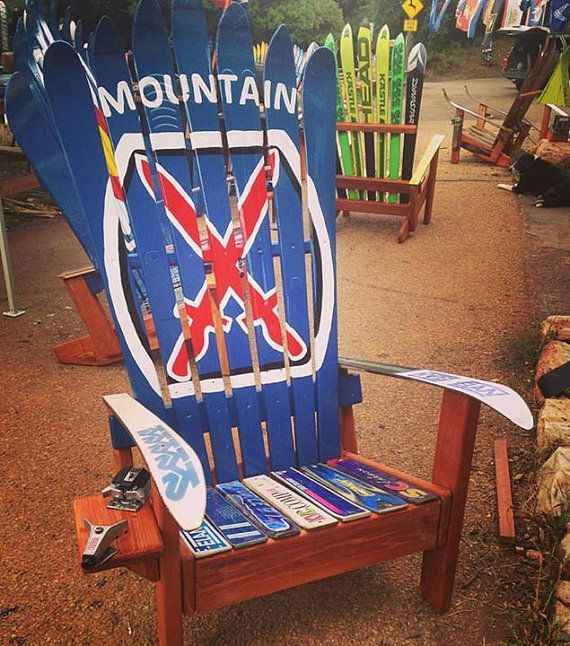 10th Mountain Division Ski Chair by ColoradoSkiChairs on Etsy