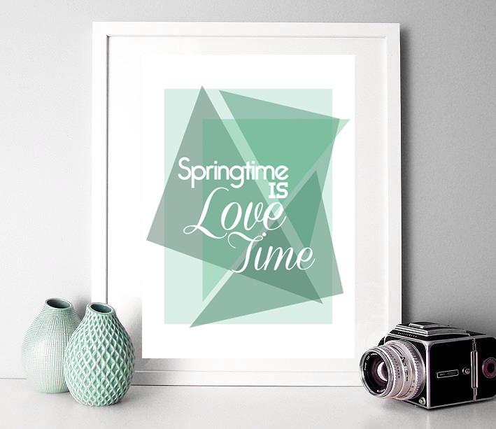Cherry & Cherry PRINTS - Springtime is Lovetime, geometric Cod produs:...